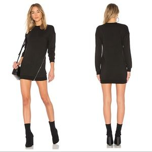 NEW Superdown Tarina Zip Sweatshirt Dress